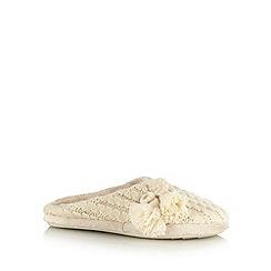 RJR.John Rocha - Designer natural tassel trim mule slippers
