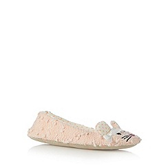 Lounge & Sleep - Light peach mouse ballet slippers