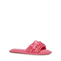 Floozie by Frost French - Pink spotted open toe mule slippers