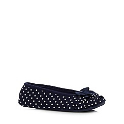 Floozie by Frost French - Navy spotty ruffle ballet slippers