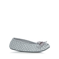 Floozie by Frost French - Pale grey spotty ruffle ballet slippers