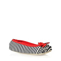 Floozie by Frost French - Red striped bow ballet slippers
