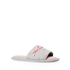Lounge & Sleep - Dark peach star jersey mule slippers