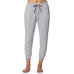 Lounge & Sleep - Grey fleece cropped joggers