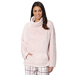 Lounge & Sleep - Pale pink fleece pullover