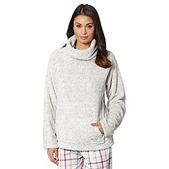 Lounge & Sleep - Pale grey fleece pullover