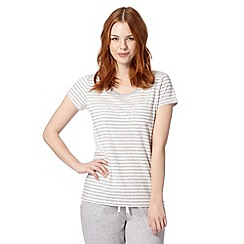 Lounge & Sleep - Grey striped pyjama t-shirt