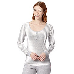 Lounge & Sleep - Grey striped pyjama top