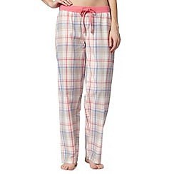 Lounge & Sleep - Pink checked pyjama bottoms