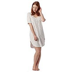 Lounge & Sleep - Ivory spotted longline pyjama t-shirt