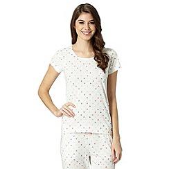 Lounge & Sleep - Ivory spotted pyjama t-shirt