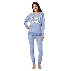 Lounge & Sleep - Blue floral pyjama set