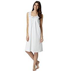 Lounge & Sleep - White spotted jersey nightdress
