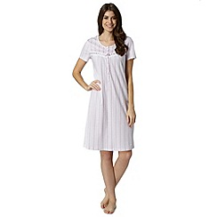 Lounge & Sleep - Lilac striped jersey nightdress