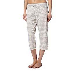 Lounge & Sleep - Natural wave print cropped pyjama bottoms