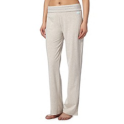 Lounge & Sleep - Natural plain roll top pyjama bottoms