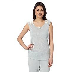 Lounge & Sleep - Pale green lace back pyjama top