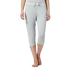 Lounge & Sleep - Pale green plain cropped pyjama bottoms