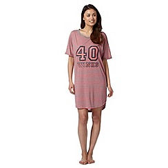 Lounge & Sleep - Pink striped '40 winks' sleep top