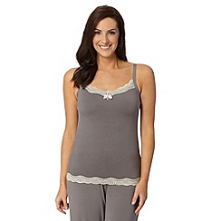 Gorgeous DD+ - Grey lace trim support camisole
