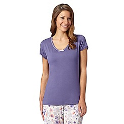 Gorgeous DD+ - Purple plain DD-G cup hidden support pyjama t-shirt