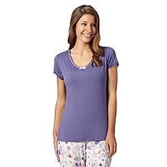 Gorgeous DD+ - Purple plain DD-G cup hidden support pyjama t-shirt