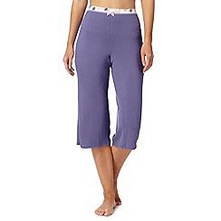 Gorgeous DD+ - Purple plain cropped pyjama bottoms