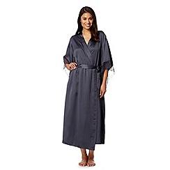 Presence - Grey satin kimono