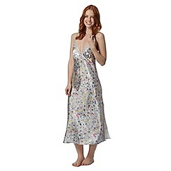 Presence - Grey floral lace nightdress