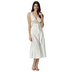 Presence - Ivory bridal lace long nightdress