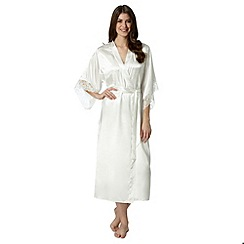 Presence - Ivory bridal lace cuff long dressing gown