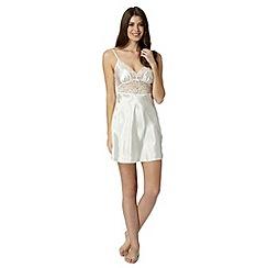 Presence - Ivory bridal satin lace chemise