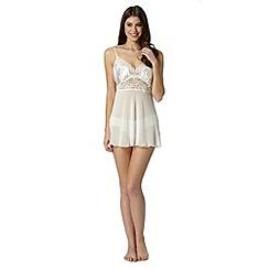Presence - Ivory bridal babydoll lace set