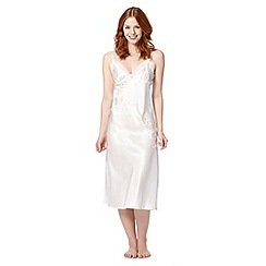 Presence - Ivory embroidered long night dress