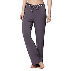 Presence - Dark grey spotted bow jersey pyjama bottoms