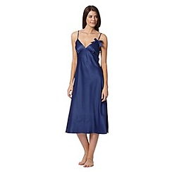 Presence - Navy bow long nightdress
