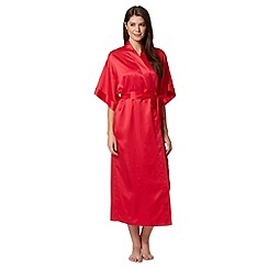 Presence - Red belted long kimono