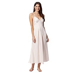 Presence - Ivory strappy long night dress