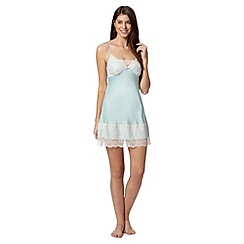 Presence - Pale green lace satin chemise