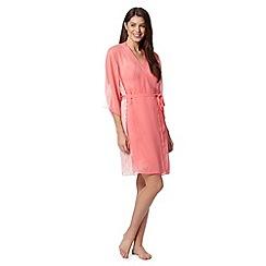 Presence - Pink lace chiffon wrap