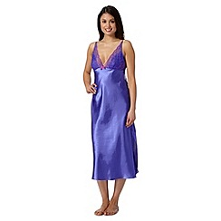 Presence - Bright purple plain long nightdress