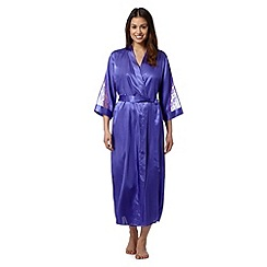 Presence - Purple floral lace dressing gown