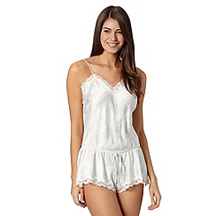 Presence - Ivory bloom lace teddy