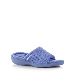 Totes - Lilac textured fleece mule slippers