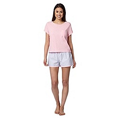 Floozie by Frost French - Pink tee and striped shorts pyjama set