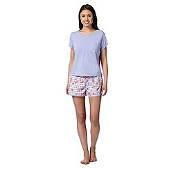 Floozie by Frost French - Lilac tee and strawberry shorts pyjama set