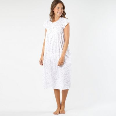White Printed Woven Nightdress