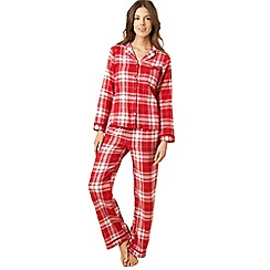 Presence - Red check woven pyjama set