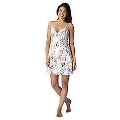 Presence - Cream floral print chemise