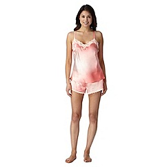 Presence - Dark peach ombre cami and shorts pyjama set